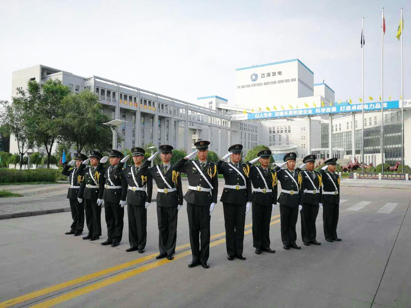 升旗仪式︱岱海项目组建了一支国旗护卫队